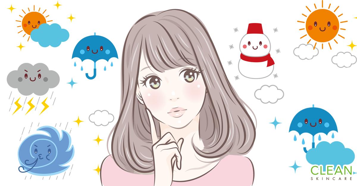 CLEAN Blog - 點解一轉天氣皮膚就會變差?