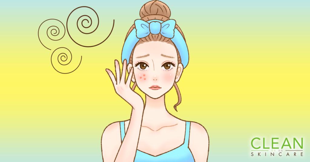 CLEAN Blog - 皮膚唔夠水份會導致生暗瘡?