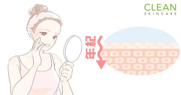 CLEAN Blog - 年紀越大皮膚越薄?